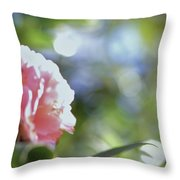 Camellia And Early Light Throw Pillow
