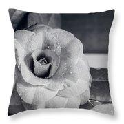 Camellia Back And White Throw Pillow