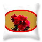 Camellia Bg Gold Throw Pillow