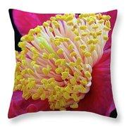 Camellia Centre Throw Pillow