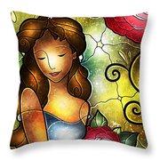 Camellia Lady Throw Pillow