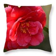 Camellia Rosette Throw Pillow