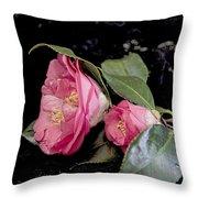 Camellia Still Life Throw Pillow