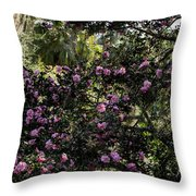 Camellia Tree Throw Pillow