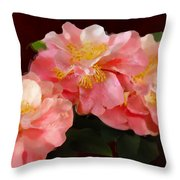 Camellias 1cmods1b Digital Painting Gulf Coast Florida Throw Pillow