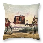 Camels And Litter Throw Pillow
