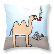 Camels Don't Smoke Pipes Throw Pillow
