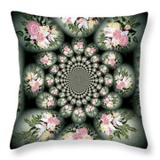 Cameo Bouquet Throw Pillow