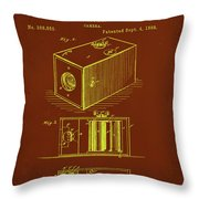 Camera Patent Drawing 1a Throw Pillow