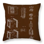 Camera Patent Drawing 2e Throw Pillow