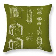 Camera Patent Drawing 2g Throw Pillow