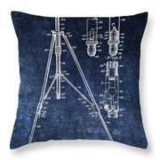 Camera Tripod Patent Throw Pillow
