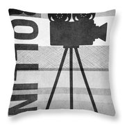 Cameras Rolling- Art By Linda Woods Throw Pillow