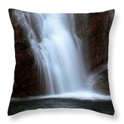 Cameron Falls In Waterton Lakes National Park Of Alberta Throw Pillow