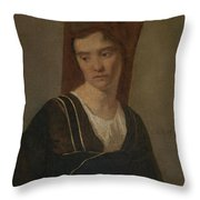 Camille Corot   A Peasant Woman Throw Pillow