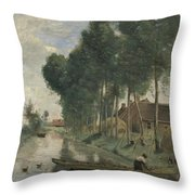 Camille Corot   Landscape At Arleux Du Nord Throw Pillow