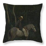 Camille Corot   Monsieur Pivot On Horseback Throw Pillow