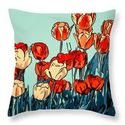 Camille's Tulips - Version 3 Throw Pillow