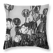 Camille's Tulips - Version 4 Throw Pillow