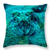 Camo Cuttlefish Throw Pillow