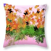 Camo Nature Range Throw Pillow