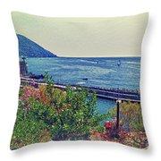 Camogli, Panorama Of The Sea. Throw Pillow