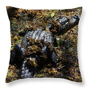 Camouflage Throw Pillow by Carol Groenen