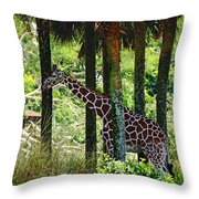 Camouflage Coat Throw Pillow