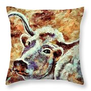 Camouflage Cow Art Throw Pillow
