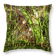 Camouflage Throw Pillow by Methune Hively