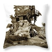 Camouflage Observation Tower Near Asilomar And The Point Pinos Lighthouse 1941 Throw Pillow