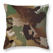 Camouflage Pattern Background  Clothing Print, Repeatable Camo G Throw Pillow