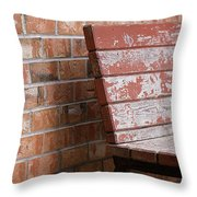 Camouflaged By The Elements Throw Pillow