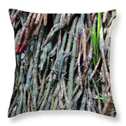Camouflaged Lizard Throw Pillow