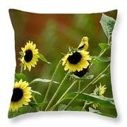 Camouflaged Perch Throw Pillow