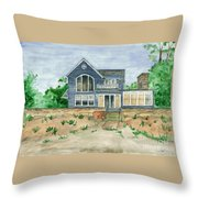 Camp In Vermont Throw Pillow