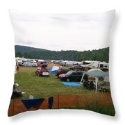 Camp Out Throw Pillow