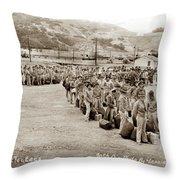 Camp San Luis Obispo Army Base 40th Division Photo 143rd Field Artillery 1941 Throw Pillow