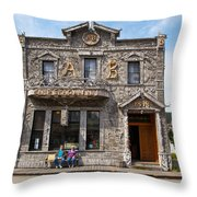 Camp Skagway No. 1 Building Throw Pillow