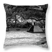 Camp Under Live Oaks Throw Pillow