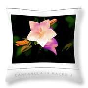 Campanula In Macro 3 Poster Throw Pillow