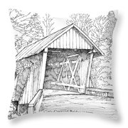 Campbell's Covered Bridge Throw Pillow
