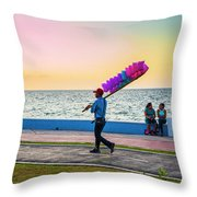 Campeche Colors Throw Pillow