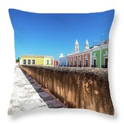Campeche Wall And City View Throw Pillow