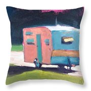Camped Out Throw Pillow