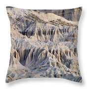 Campers And Eroded Cliffs At Ricardo Throw Pillow