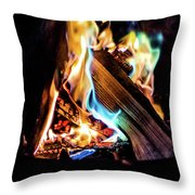 Campfire In July Throw Pillow