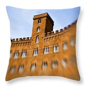 Campo Of Siena Tuscany Italy Throw Pillow