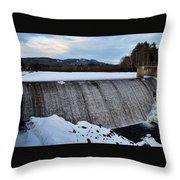 Campton Pond Dam  Throw Pillow