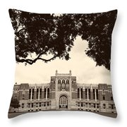 Campus Of Rice University Throw Pillow